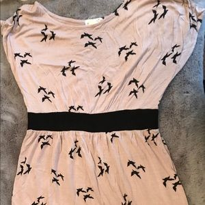 One Clothing Bird Print Sleeveless Dress